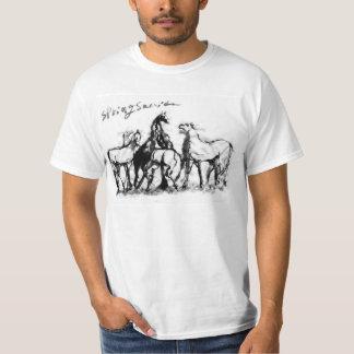 Japanese samurai horse art equestrian sumi tee shirts