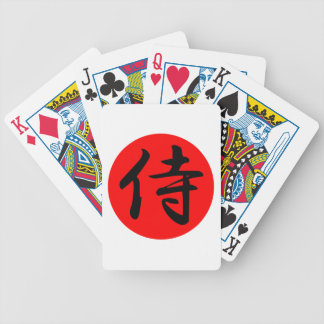 Japanese Samurai Kanji Symbol Bicycle Playing Cards