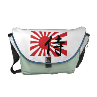 Japanese Samurai Rising Sun Messenger Bag