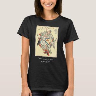 Japanese Samurai Warrior sketch tattoo Hokusai T-Shirt