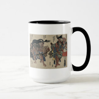 Japanese Samurai Warriors circa 1811 Mug