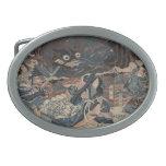 Japanese Sea Monster circa 1815 Oval Belt Buckles