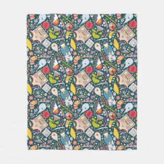 Japanese Seamless Pattern Fleece Blanket