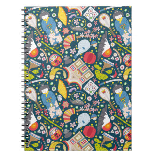 Japanese Seamless Pattern Notebook