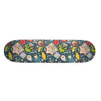 Japanese Seamless Pattern Skate Board