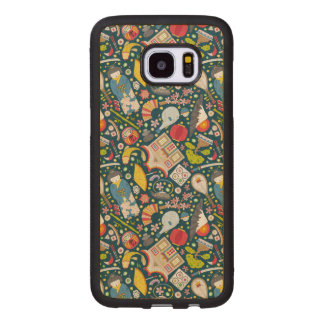 Japanese Seamless Pattern Wood Samsung Galaxy S7 Edge Case