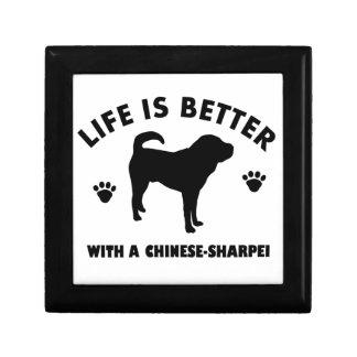 Japanese shar pei dog small square gift box