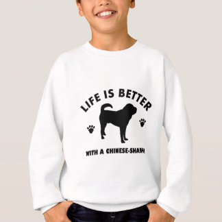 Japanese shar pei dog sweatshirt