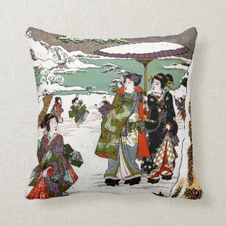 Japanese Snowscape Cushion