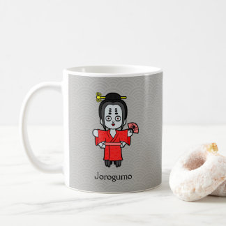 Japanese Spider Lady Jorogumo: Cartoon Youkai Coffee Mug