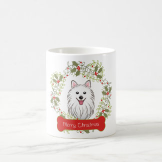 Japanese Spitz Merry Christmas Coffee Mug