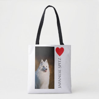 Japanese Spitz Tote Bag