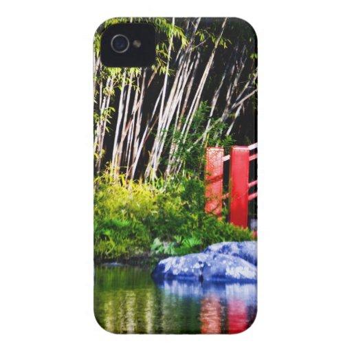 Japanese Stone and Bridge iPhone 4 Cover