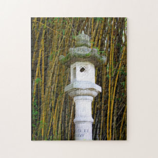 Japanese Stone Lantern in Hilo, Hawaii Jigsaw Puzzle