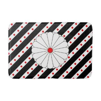 Japanese stripes flag bath mat