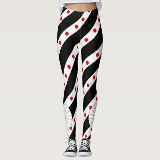Japanese stripes flag leggings