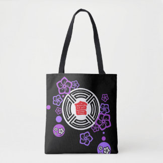 Japanese-style horse handle both sides toto black tote bag