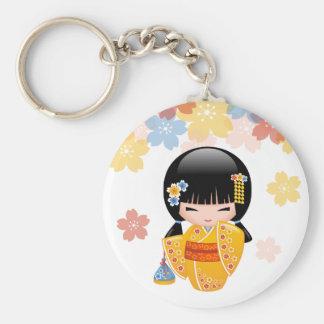 Japanese Summer Kokeshi Doll Key Chain