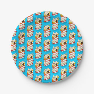 Japanese sushi night for the cute French Bulldog Paper Plate
