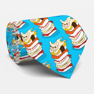 Japanese sushi night for the cute French Bulldog Tie