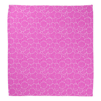 Japanese swirl pattern - fuchsia pink and white bandanna