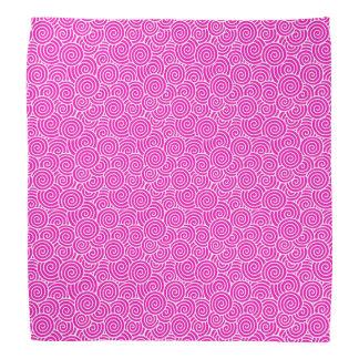 Japanese swirl pattern - fuchsia pink and white bandana