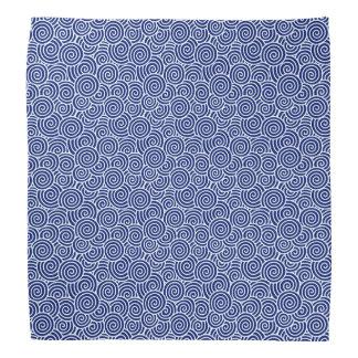 Japanese swirl pattern - navy blue and white bandanna