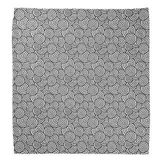 Japanese swirl pattern - white and black bandana