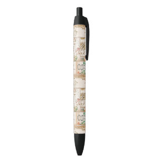 Japanese Tapestry Asian Collage tsuzure nishiki Black Ink Pen