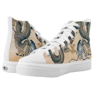 Japanese Tattoo Art Dragon Printed Shoes