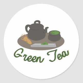 Japanese Tea Ceremony Gree Round Sticker