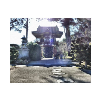 Japanese Tea Garden Gateway Gallery Wrap Canvas