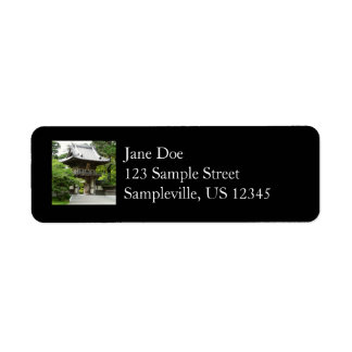 Japanese Tea Garden in San Francisco Return Address Label