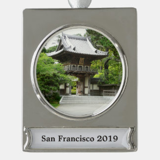 Japanese Tea Garden in San Francisco Silver Plated Banner Ornament