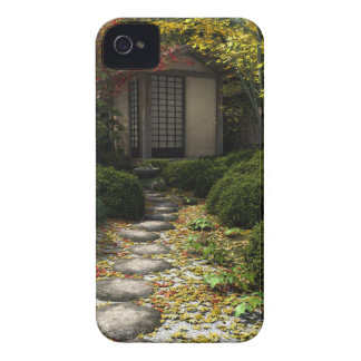 Japanese Tea House and Garden in Autumn iPhone 4 Covers