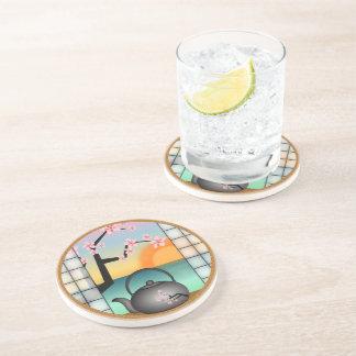 Japanese Tea Room Japan Sandstone Drink Coasters