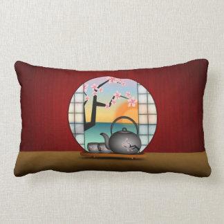Japanese Tea Room MoJo Lumbar Throw Pillow Throw Cushions