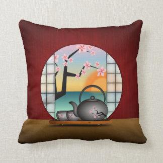Japanese Tea Room MoJo Square Throw Pillow Throw Cushion
