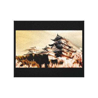 Japanese Temple Painting Canvas Print