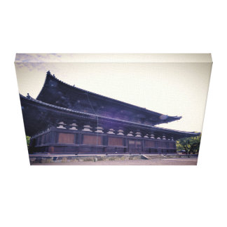 Japanese Temple Stretched Canvas Prints