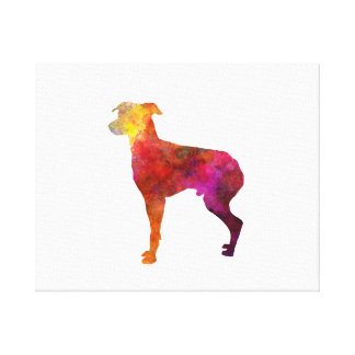 Japanese Terrier in watercolor Canvas Print
