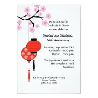 Japanese Themed Anniversary Invitation
