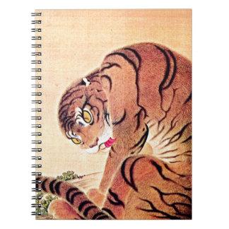 Japanese Tiger Woodblock Vintage Art Ukiyo-E Spiral Note Books