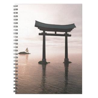 Japanese Torii Gate at a Shinto Shrine, Evening Notebook