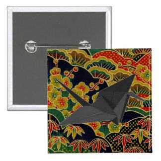 Japanese Traditional kimono Pattern 15 Cm Square Badge
