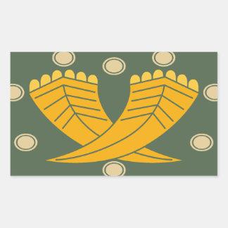 Japanese traditional pattern - CHOJI Rectangular Sticker
