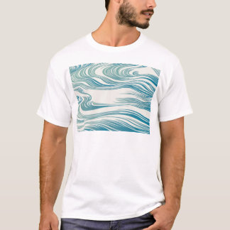 Japanese Traditional Wave Pattern T-Shirt