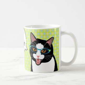Japanese Tuxedo Cat Breakfast Coffee Good Morning Coffee Mug