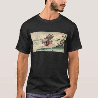 Japanese ukiyo-e horseback knight warrior samurai T-Shirt
