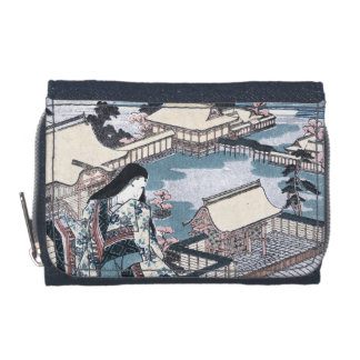 Japanese Ukiyo-e Print with a View of Kyoto Wallet